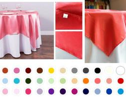 1/10 pack 72x72 in. Square Satin Overlay Seamless Wedding Pa
