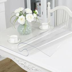 1.5mm PVC Clear Tablecloth Waterproof Transparent Desk Table