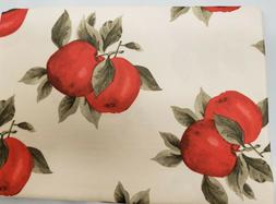 """1 Printed Fabric Tablecloth, 60"""" Round  EURO RED APPLES, VL"""