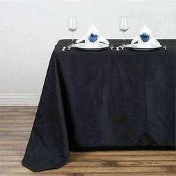 "10 Pack 50x120"" Polyester Rectangle Seamless Tablecloth Wedd"