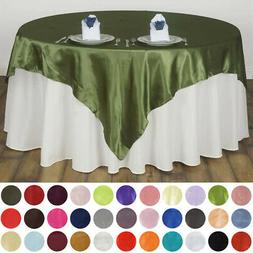 """10 Pack 60"""" Square SATIN Overlays Wedding Party Decorations"""