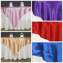 "10 Pack 60"" Square SATIN Overlays Wedding Party Decorations"