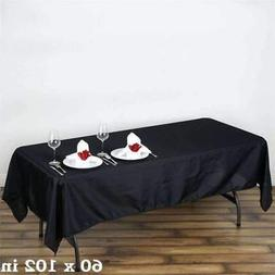 10 Pk 60x102 in. Polyester Rectangle Seamless Tablecloth Wed