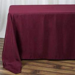 10 Pk 90x132 in. Polyester  Rectangle Seamless Tablecloth We