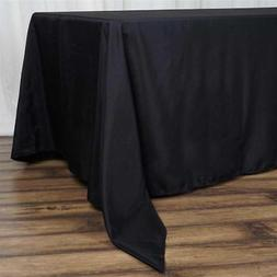 "10 Pk Black 72x120""  Polyester Rectangle Seamless Tablecloth"