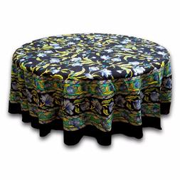 Handmade 100% Cotton Regal French Floral Round Tablecloth 60