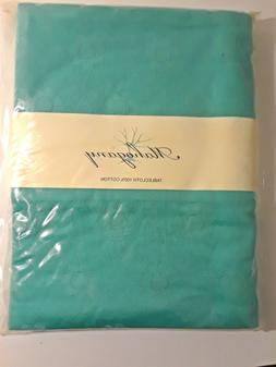 100 percent cotton turquoise tablecloth 60 x