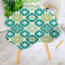 Leighhome 100% Polyester Printed Table Cloth- Colorful Moroc