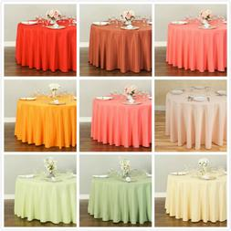 LinenTablecloth 120 in. Round Polyester Tablecloths , 33 Col