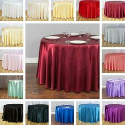 LinenTablecloth 108 in. Round Satin Tablecloth  Wedding Part