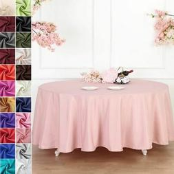108-Inch Polyester Round Tablecloth Decoration Supplies Dinn