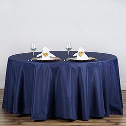 GFCC 108 Round Navy Blue Polyester Tablecloth