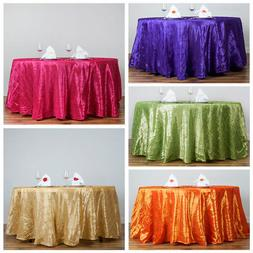 "108"" Round Pintuck Fancy TABLECLOTH Wedding Party Table Line"