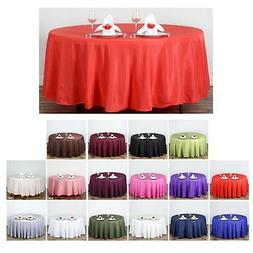 "108"" Round Polyester Tablecloth For Wedding Party Banquet Ev"