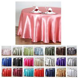 "108"" Round Satin Tablecloth For Wedding Party Banquet Events"