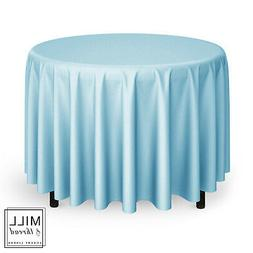 """120"""" Round Wedding Banquet Polyester Fabric Tablecloth - Bab"""