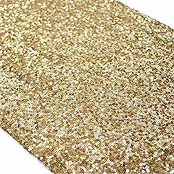 TRLYC Sequin Table Runner, 12 by 156-Inch Sequin Tablecloths