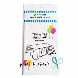 Evershine  Heavy Duty Plastic Table Covers Tablecloth  (Rect