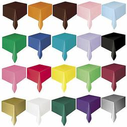 12 X Oblong Plastic Tablecover / Party Table Cloth  BULK BUY
