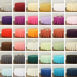 120 in. Round Polyester Tablecloth 33 Colors!  Wedding Party