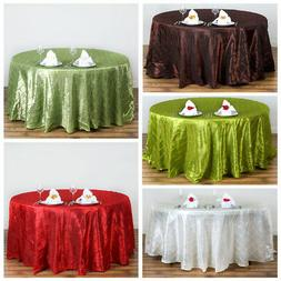 """120"""" Pintuck Fancy Round Tablecloths Linens Wedding Party Ca"""