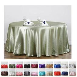 "120"" Round Satin Tablecloth For Wedding Party Banquet Events"