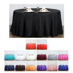 "132"" Round Polyester Tablecloth For Wedding Party Banquet Ev"