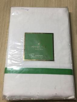 $145 KATE SPADE GRACE AVENUE GREEN STRIPE CREAM LINEN Tablec