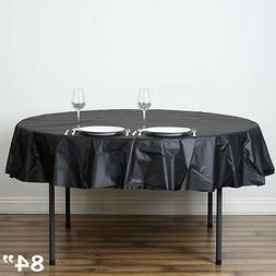 "15 pcs ROUND 84"" Disposable Plastic Tablecloth Table Cover A"