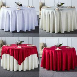 1PC Curl Grass Pattern Solid Round Tablecloth For Wedding Pa
