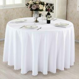 1PCS/LOT Polyester Round For Wedding Hotel Decor White Table
