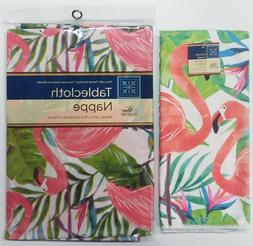 2 pc Kitchen Home Collection Tropical Flamingo Dish Towel &