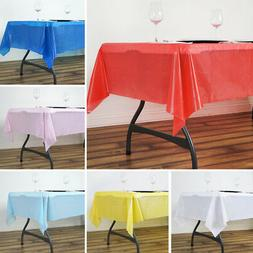 "2 pcs RECTANGLE 54x72"" Disposable Plastic TABLE COVERS Table"