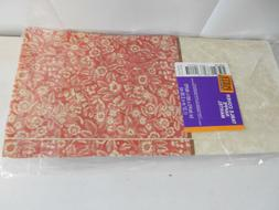 2 Red/White Flower Nappe Mantel Banquet Table Covers Hallmar