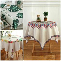 3 Pastoral Styles Polyester Table Cloth Cover Square Rectang