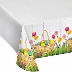 Creative Converting 327230 Easter Basket Bounty Plastic Tabl