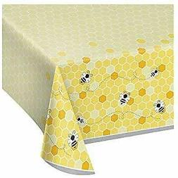 Creative Converting 340216 Bumblebee Baby Plastic Tablecloth