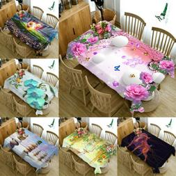 3D Dust-proof fabric Table Cloth Cover Home Dining Kitchen T