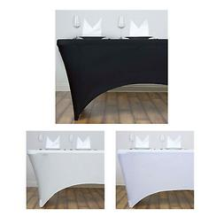 4 Ft Rectangular Spandex Table Cover For Wedding Party Banqu