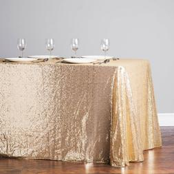 """40""""x 60"""" Sequin Table Cloth For Wedding Party Decor Round Sh"""