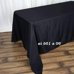 5 Pack 90x156 in. Polyester Rectangle Seamless Tablecloth We