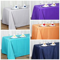 """5 pcs 90""""x132"""" Polyester Tablecloth Wedding Party Table Line"""