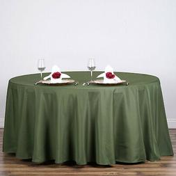 """5 WILLOW GREEN 120"""" ROUND POLYESTER TABLECLOTHS Wedding Rece"""