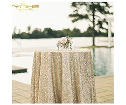 50''x50'' Square Matte Gold Sequin Tablecloth Select Your Co