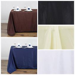 """50x120"""" Polyester Rectangular Rectangle Tablecloth for a Wed"""