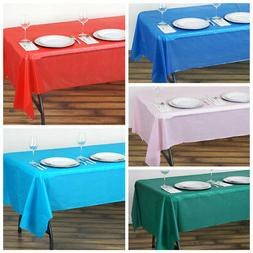 "54 x 108"" Disposable Plastic Rectangular Table Cover Tablecl"