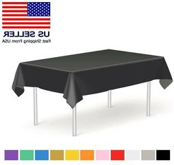 """54"""" x 108"""" Tablecloth Rectangle Plastic Banquet Party Table"""
