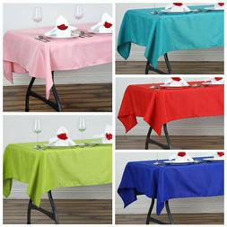 "54 x 54"" SQUARE POLYESTER Tablecloth Wedding Table Linens Ca"