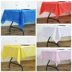 "54 x 72"" Disposable Plastic Rectangular TABLE COVER Tableclo"