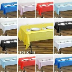 54x108 inch Disposable PLASTIC TABLE COVER Tablecloth Birthd